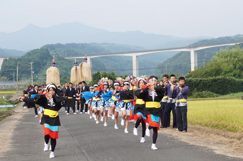 飯田面浮立の道行