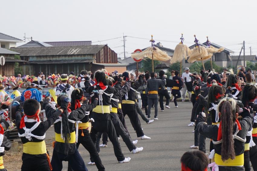飯田面浮立の参加者