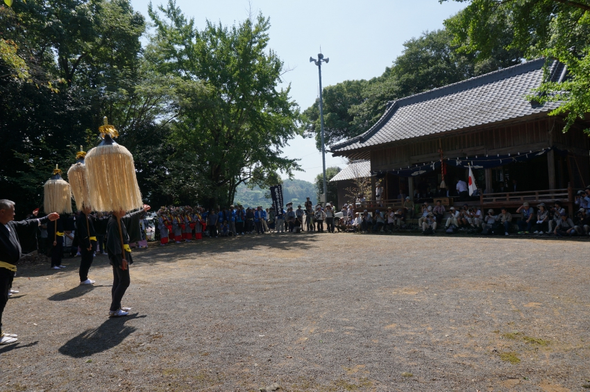 天子神社への奉納