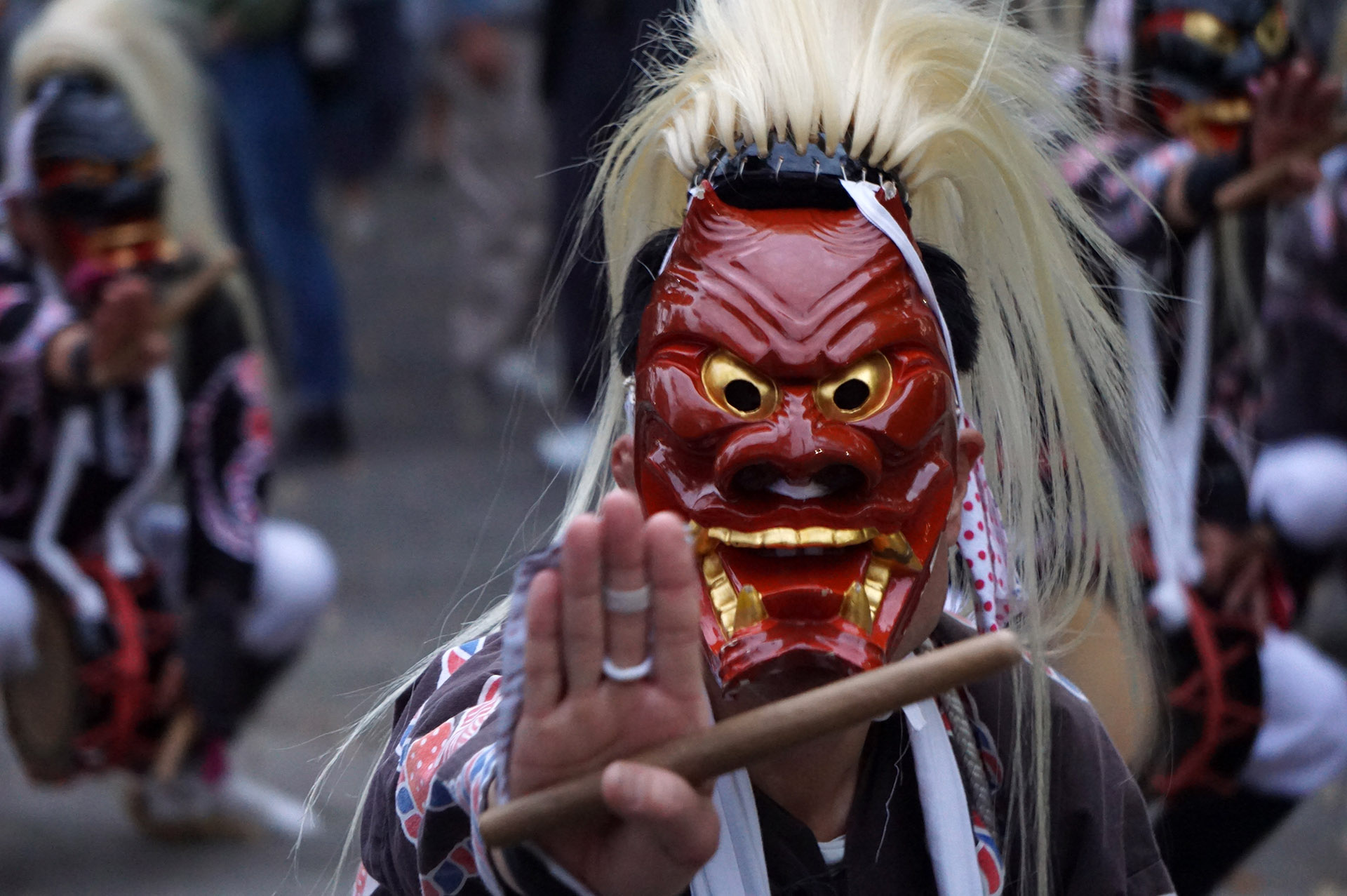 琴路神社秋祭りの面浮立