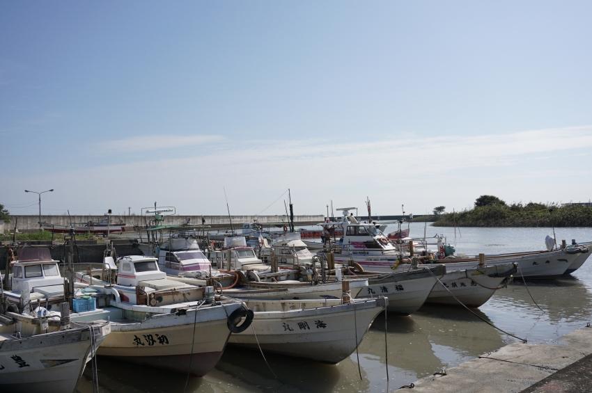 舟津地区にある漁師の船