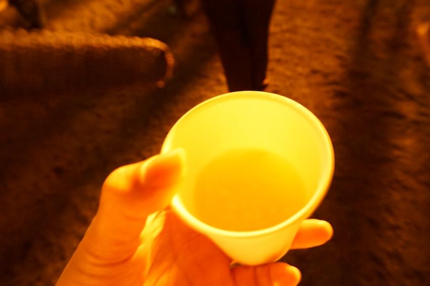 抜穂祭で収穫した新米で造られた甘酒