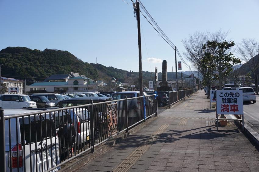 祐徳稲荷神社初詣の駐車場