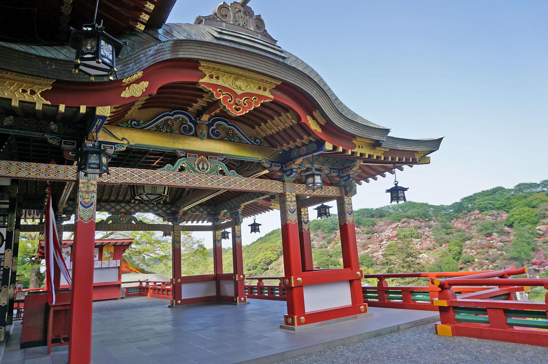 祐徳稲荷神社本殿の展望所