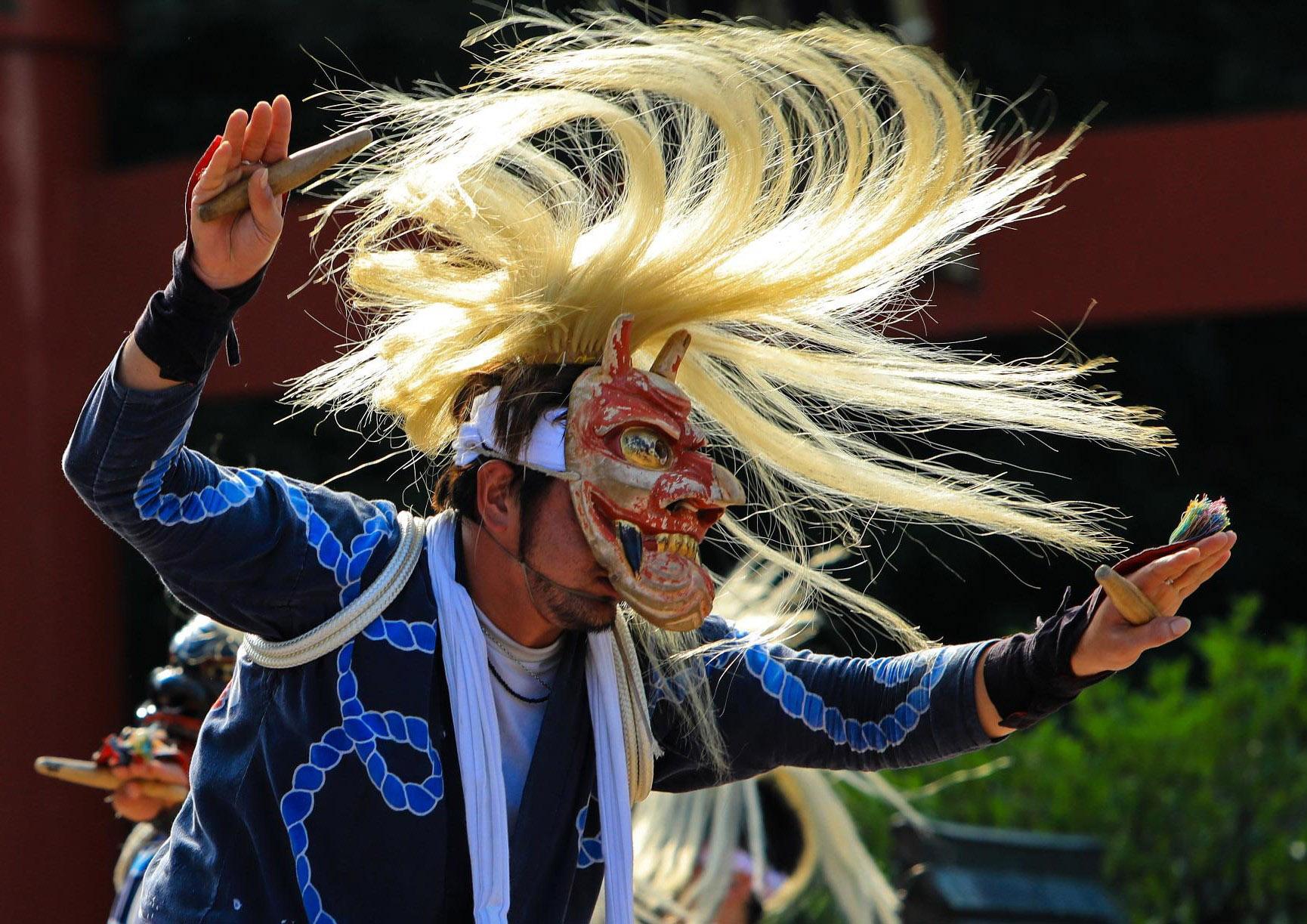かしま伝承芸能フェスティバルの面浮立