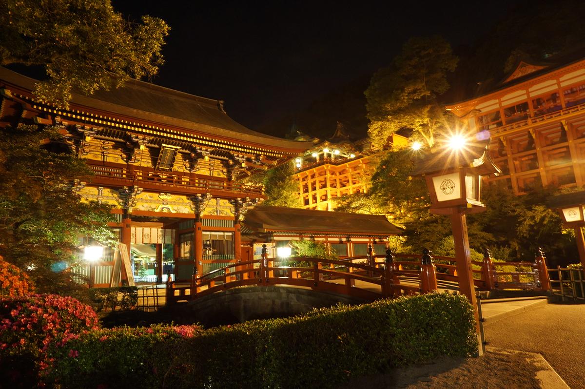 祐徳稲荷神社のライトアップ