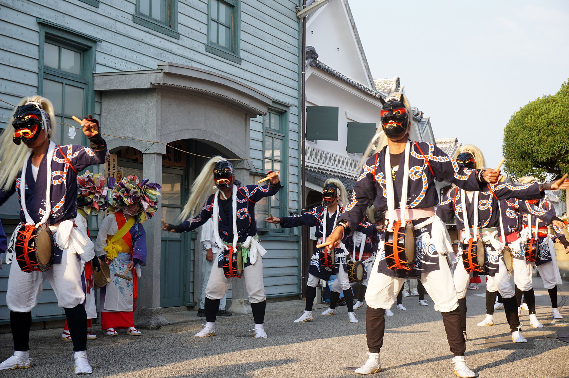 浜祇園祭りの面浮立