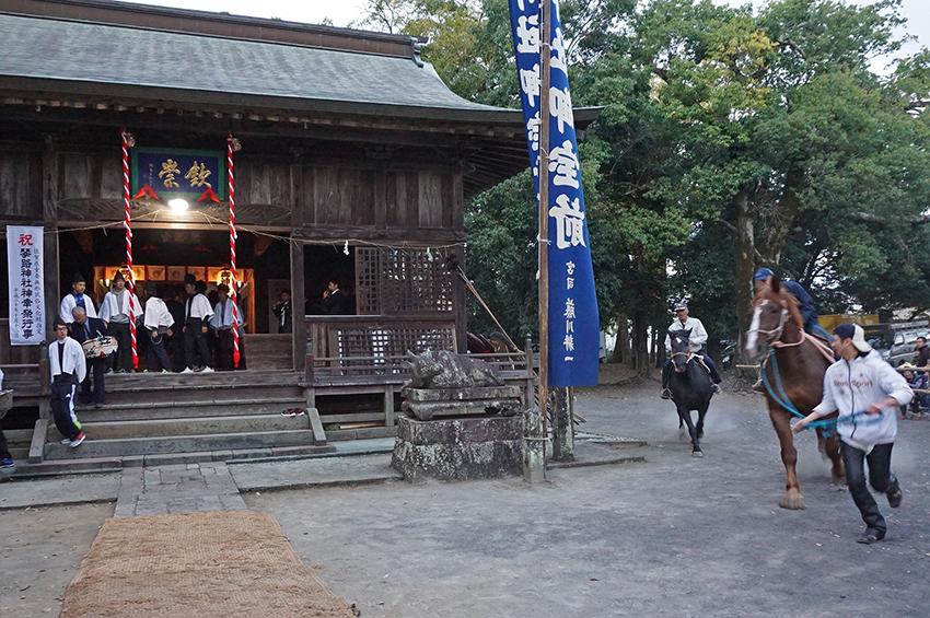 琴路神社の馬かけ